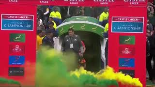 Springboks extravagant entrance vs All Blacks