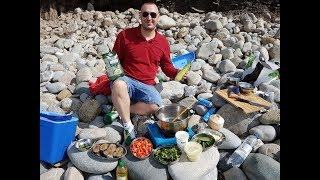 Cooking King Fish Curry on the Beach - Steven Heap