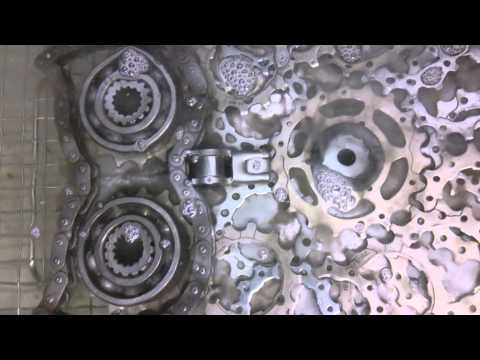 Ultrasonic cleaning the saw blade owl