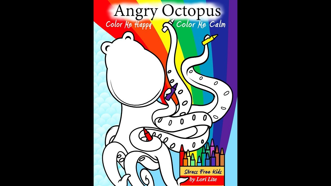 Young Kids Control Anger Using Angry Octopus Coloring Book