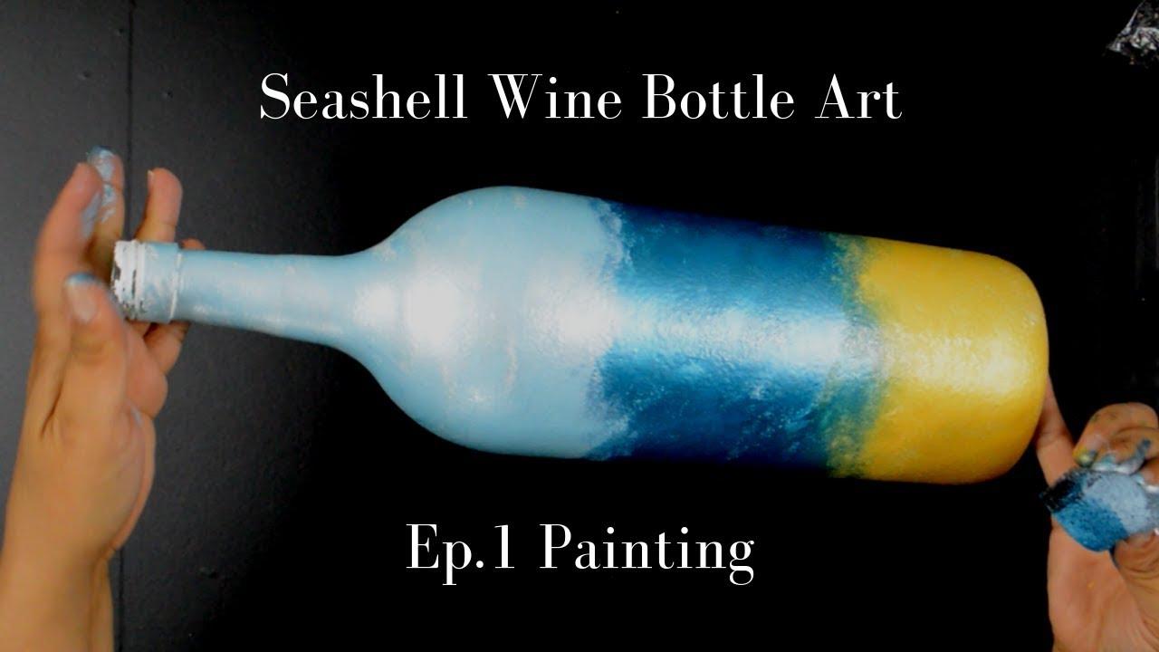 Wine Bottle Art Painting