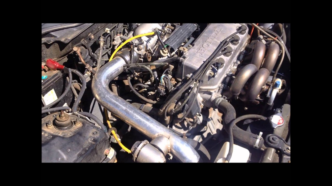 Turbo D16Y8 2000 Honda Civic Ex - YouTube