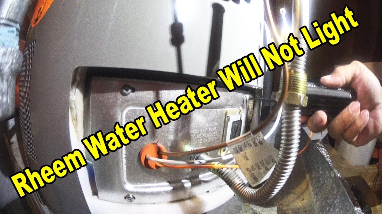 Bradford Water Heater >> Rheem Water Heater Will Not Light - YouTube