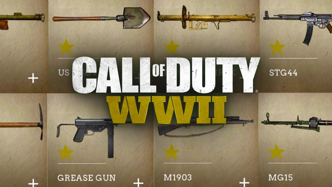 Cod Wwii Complete Gun Guide And Unlock Levels