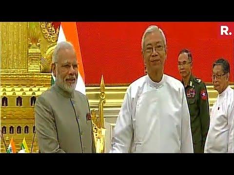 PM Modi Meets Myanmar President Htin Kyaw