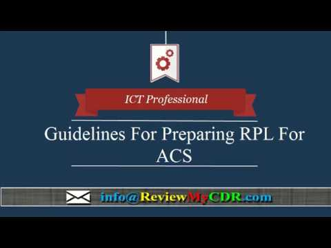 ACS Skills Assessment Report | RPL Writing For Australian Immigration