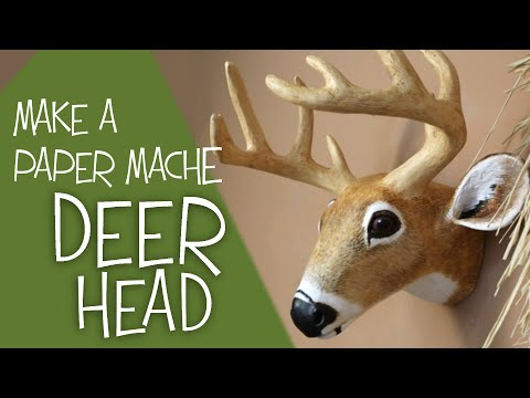 DIY Paper Mache Deer Head Pattern
