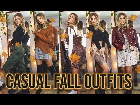 [VIDEO] - CASUAL FALL LOOKBOOK - 5 FALL OUTFIT IDEAS for EVERYDAY || Shein Try On Haul 2019 1