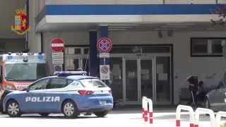 I controlli della Polizia all'ospedale Veneziale di Isernia