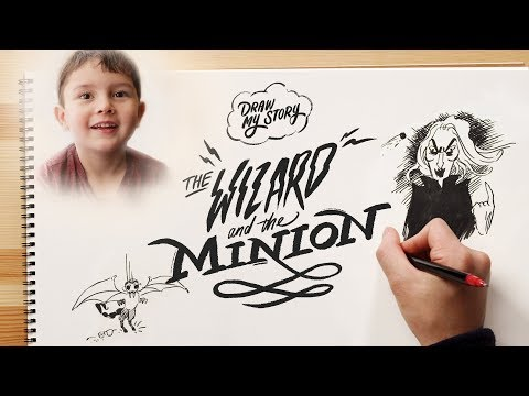The Wizard & The Minion (Ernie) | Draw My Story | HiHo Kids
