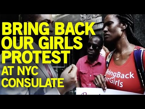 Bring Back Our Girls Group Protest At Nigeria NYC Consulate
