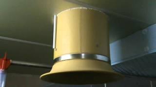 Komin izolowany i wentylator