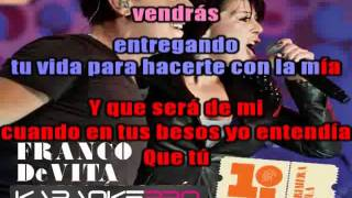 Tan solo tu Franco de Vita alejandra Guzman karaoke instrumental