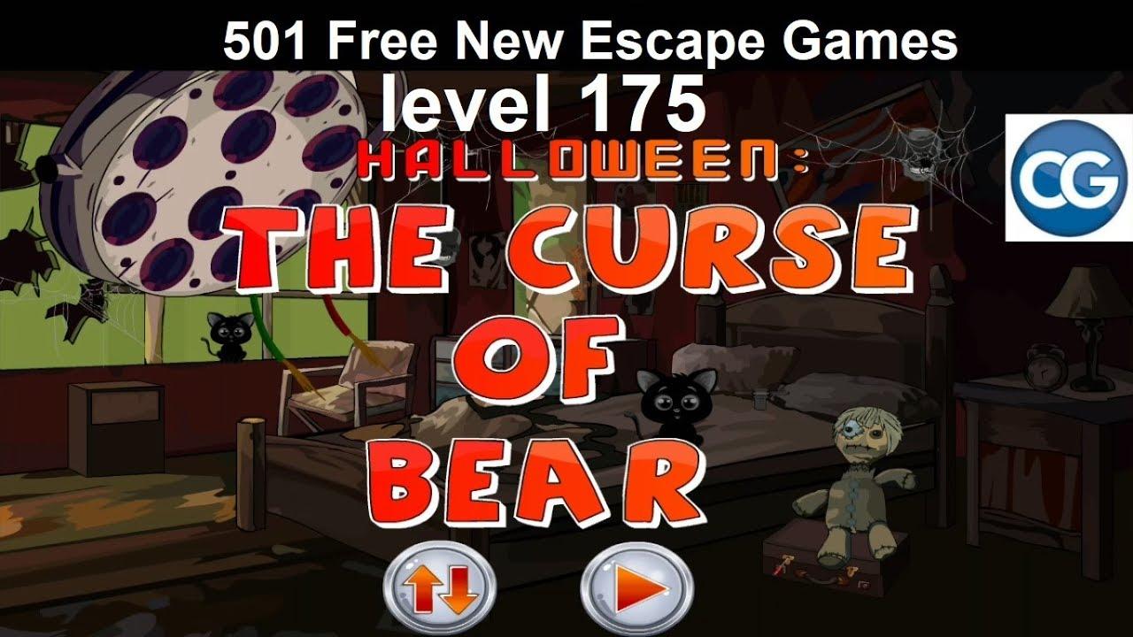 Halloween Escape Soluzione.Walkthrough 501 Free New Escape Games Level 175 Halloween The Curse Of Bear Complete Game