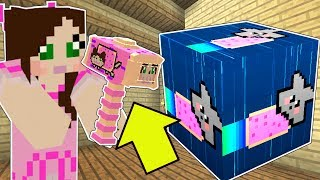 Minecraft: NYAN CAT LUCKY BLOCK!!! (NYAN JEN HAMMER, RAINBOW GAUNTLET, & MORE!) Mod Showcase