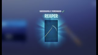 Reaper Pickaxe is BACK!!! Fortnite Battle Royale NEW SKINS!!!