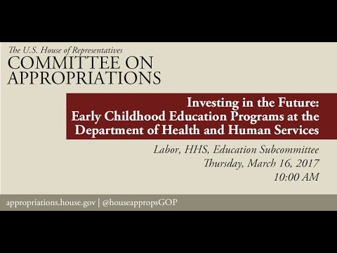 Hearing: Investing in the Future - Early Childhood Education Programs at HHS (EventID=105685)