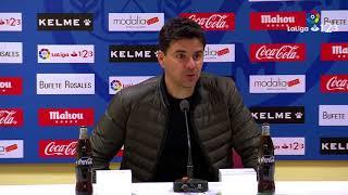 Rueda de prensa de Míchel tras el Rayo Vallecano vs SD Huesca (3-0)