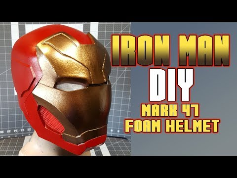 DIY IronMan Mark 47 foam helmet Spiderman Homecoming