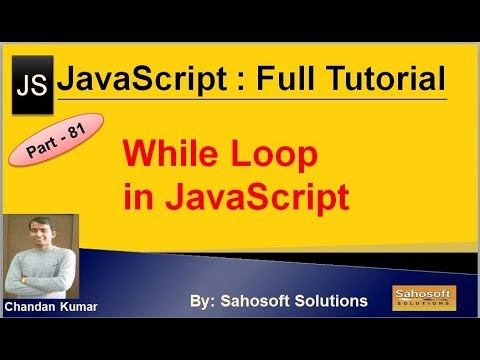 While Loop in JavaScript | JavaScript Full Tutorial in Hindi thumbnail