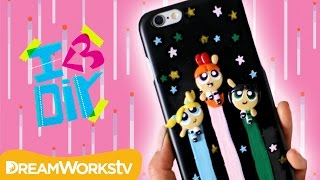 Powerpuff Girls Phone Case with Puddingfishcakes | Powerpuff Girls present I ♥ DIY(Puddingfishcakes is going to show you how to make this awesome Powerpuff Girls phone case! Puddingfishcakes' Powfactor is Artsy Smarty, what's yours?, 2016-12-12T20:00:03.000Z)