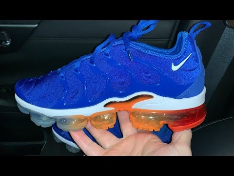 c900968387ac5 Nike Air Vapormax Plus Game Royal Knick s color sneakers - YouTube