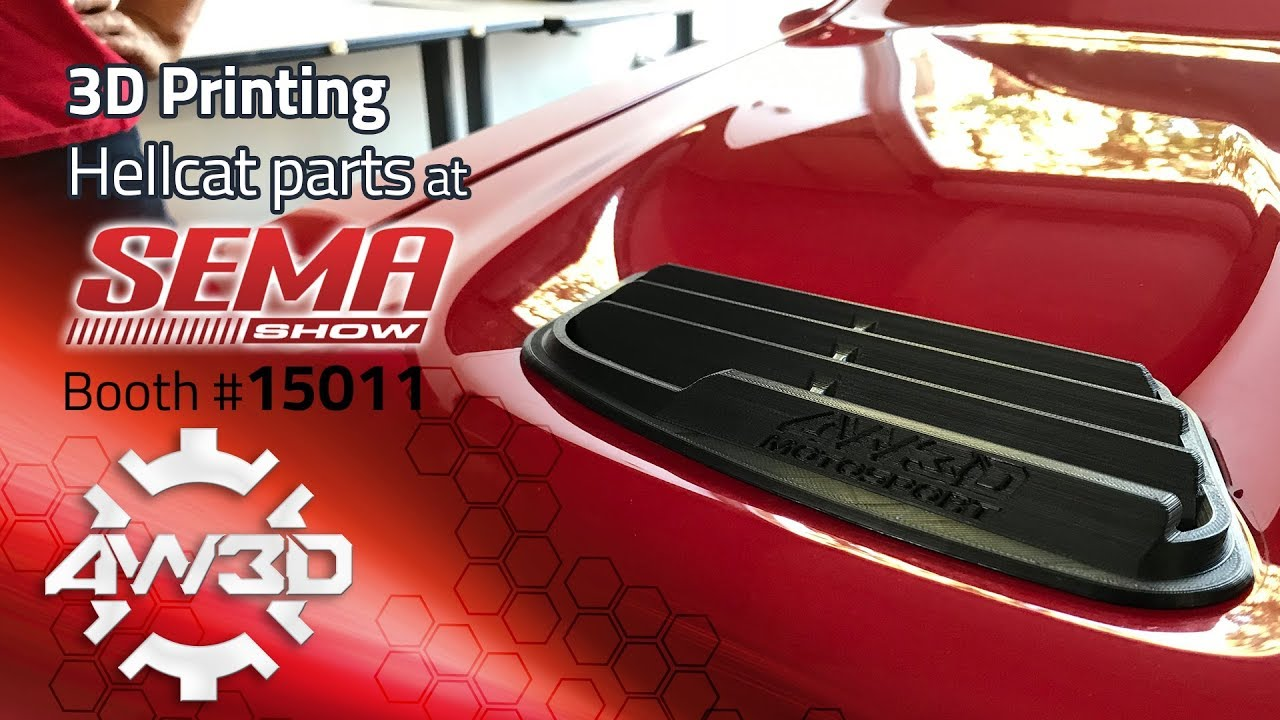 Prototyping and 3D Printing Automotive Parts for Hellcat at SEMA 2017 -  Side Vent, Episode 5