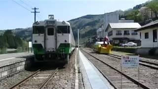 春の会津川口駅(JR只見線) / Aizu-Kawaguchi station