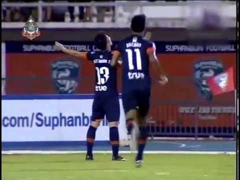 ดูบอลสด ไฮไลท์ไทยพรีเมียร์ลีก 2013 สุพรรณบุรี 3 -1 ทีโอที