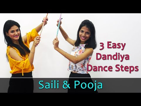 Dandiya Dance Steps Video | Learn 3 Easy Dandiya Steps For Beginners | Navaratri Dandiya Dance Songs