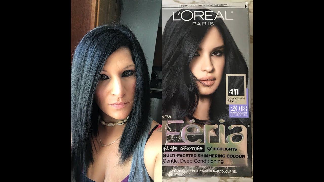 LOral Fria Downtown Denim Hair Dye Nina Gilhousen