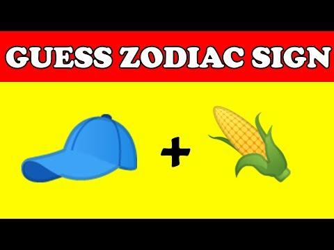 zodiac sign | Guess Zodiac Sign from emoji | Zodiac, Emoji challenge