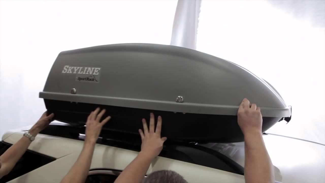 Sportrack Skyline Xl Cargo Box Sr7095 Overview Youtube