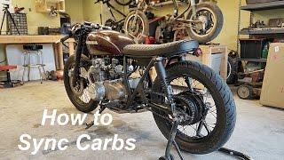 how to sync balance carbs on a honda cb550