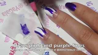Pink and Purple Nails / Яркий маникюр