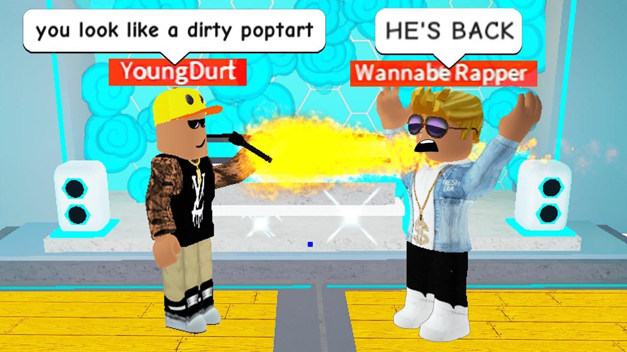 Rap Battling As A Roblox Rap God Youtube