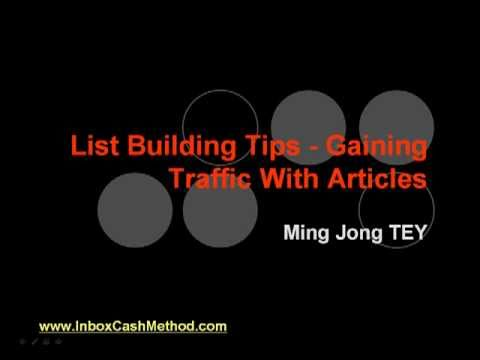List Building Tips - Gaining Traffic With Articles
