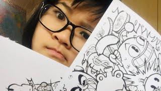 Colouring Vexx's Doodle