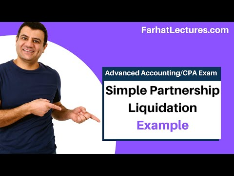 Simple Partnership Liquidation Example | Advanced Accounting