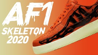 BEST Halloween Sneaker for 2020! Nike AF1 Skeleton Review + On Feet