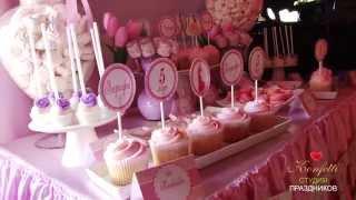Сладкий стол для детей на день рождения. Праздник Дисней(Детский сладкий стол на день рождения. Детский праздник в стиле Принцессы Дисней для девочки. Цена - от..., 2014-06-05T12:08:52.000Z)