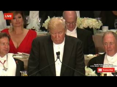 FULL: Donald Trump and Hilary Clinton at Alfred E. Smith Memorial Foundation Dinner. Oct.