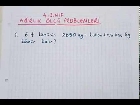4.sınıf tartma problemleri ( Her çeşit problemlerin çözümleri ) #bulbulogretmen #matematik #tartma