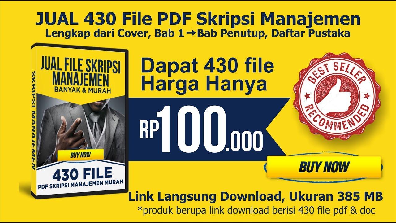 Jual Skripsi Manajemen 430 File Pdf Murah Wa 082136853553 Manajemen Pemasaran Buku Ebook Manajemen Murah