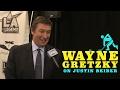 Wayne Gretzky Coaches Justin Bieber