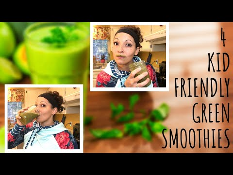 4 KID FRIENDLY GREEN SMOOTHIES | Plant Based | Weight Loss | Homeschooling Mom Of 7 | Fit Mom Ashley