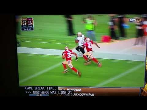 Mark Ingram 75 Yard Rushing Touchdown Saints vs 49ers