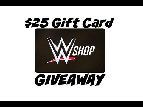 $25 WWE Shop Gift Card GIVEAWAY! - YouTube