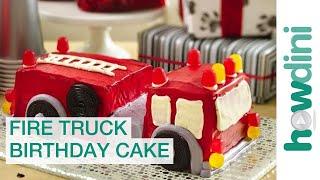 Birthday Cake Ideas: How to Make a Fire Truck Birthday Cake