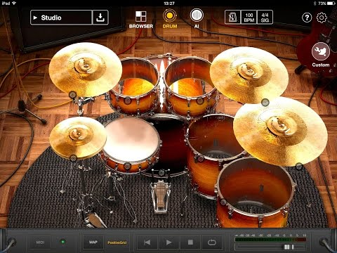 X Drummer by Positive Grid Demo & Tutorial for the iPad